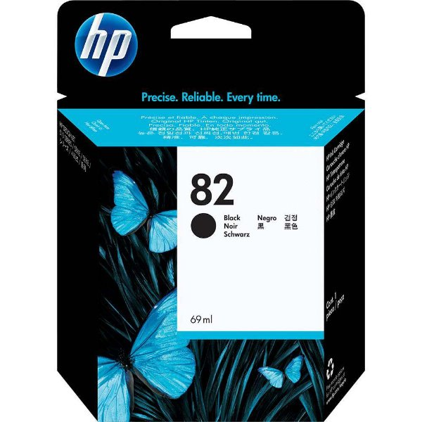 Cartucho de Tinta Original HP 82 (Ch565) Preto 69ml
