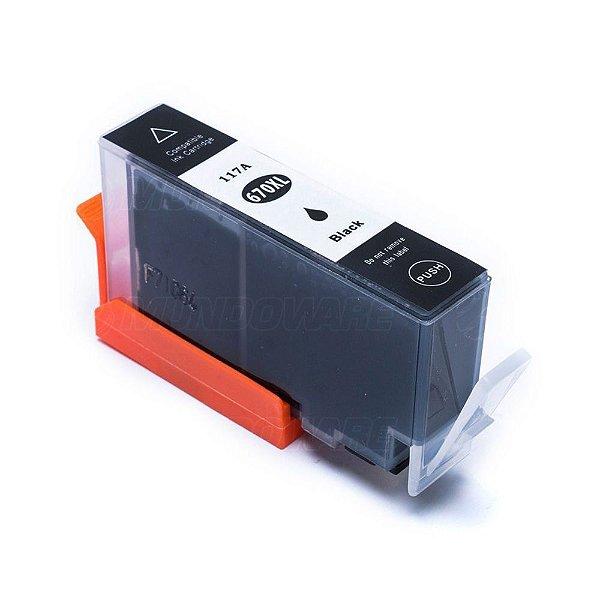 Cartucho de Tinta Compativel HP 670xl (CZ117) Preto 22ml