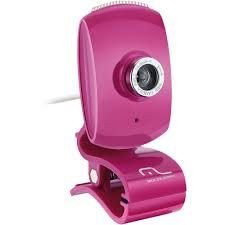 Webcam Facebook Wc048 Usb Pink - Multilaser