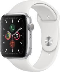 Apple Watch Série 5 44mm (gps) Prova D'água Com Pulseira Branca
