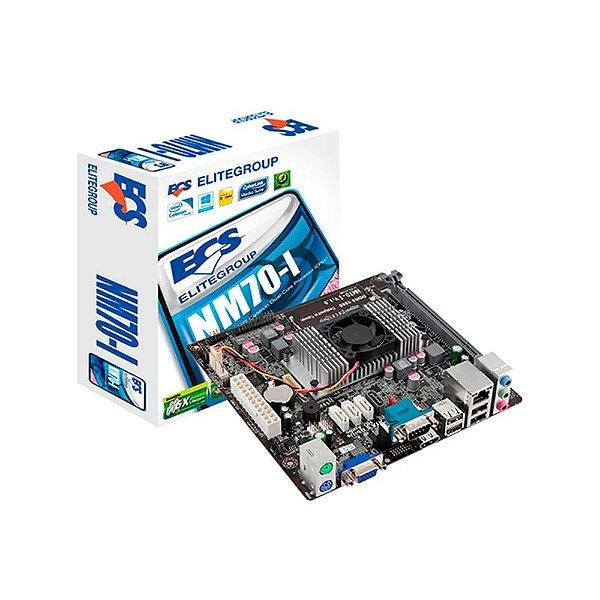 Placa Mãe C/ Processador Intel Nm70-I Ecs Elitegroup