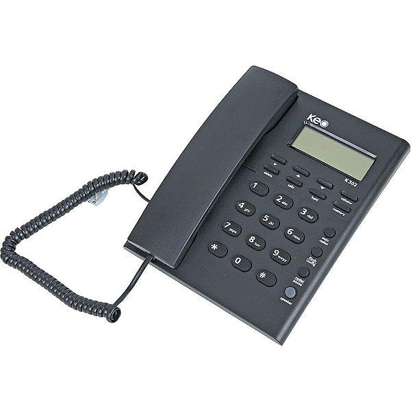 Telefone com Fio Id k302 Grafite - Keo