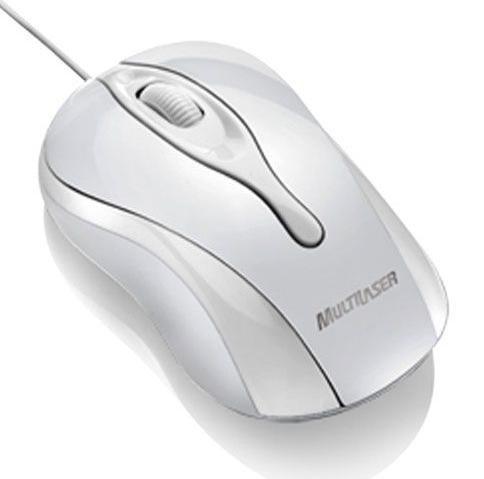 Mouse Óptico Usb Colors Mo140 Branco - Multilaser