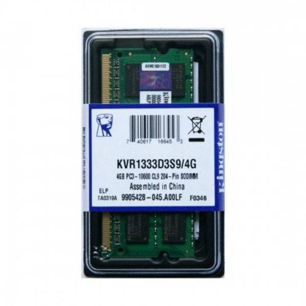 Memória notebook 4gb ddr3 1333mhz - Kingston