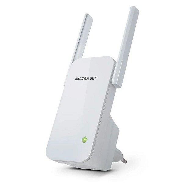 Repetidor 300Mbps 2 Antenas Externas Branco - Multilaser