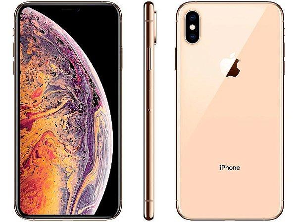 "iPhone XS Max Apple 64GB Dourado 4G Tela 6,5"" Retina - Câmera Dupla 12MP + Selfie 7MP iOS 12"