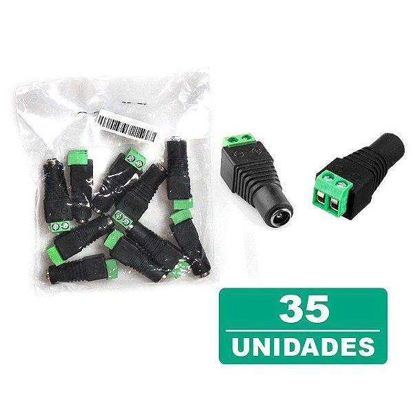 Kit 35 Conectores Plug P4 Fêmea