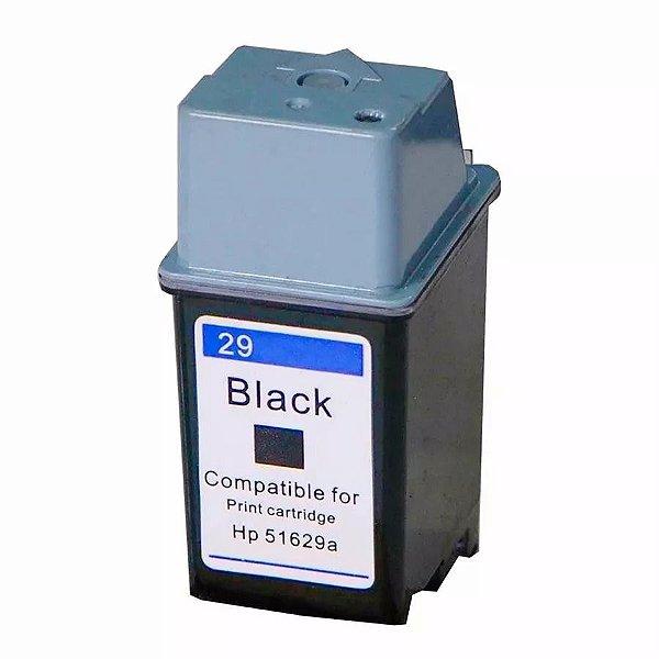 Cartucho de Tinta Compatível HP 29 (51629) Preto 38ml