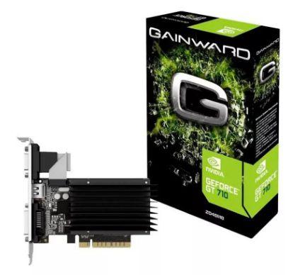 Placa de Video Geforce Gt710 2gb ddr3 64 bits CRT DVI HDMI