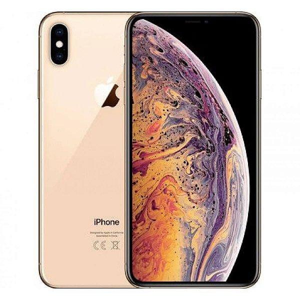 "iPhone XS Max Apple 256GB Dourado 4G Tela 6,5"" Retina - Câmera Dupla 12MP + Selfie 7MP iOS 12"