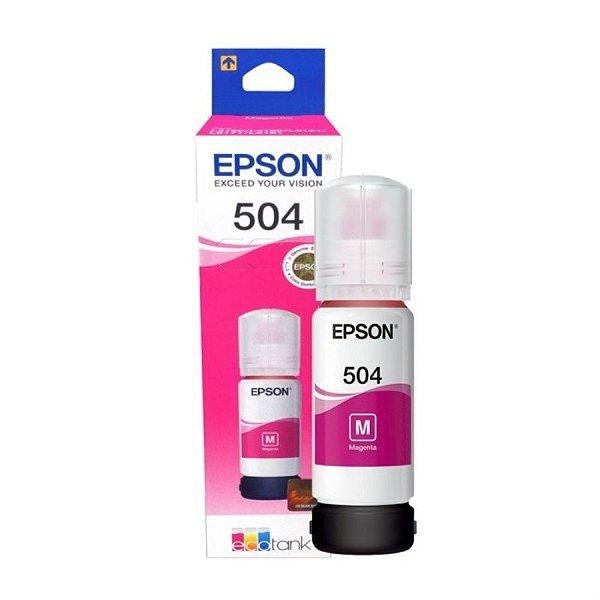 Refil de Tinta Original Epson 504 (T504320) Magenta 70ml