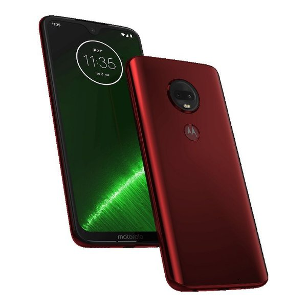 "Smartphone Motorola Moto G7 Plus Rubi 6.24"" 64Gb Dual Chip Android Pie 9.0 Octa-Core Câmera 16Mp"