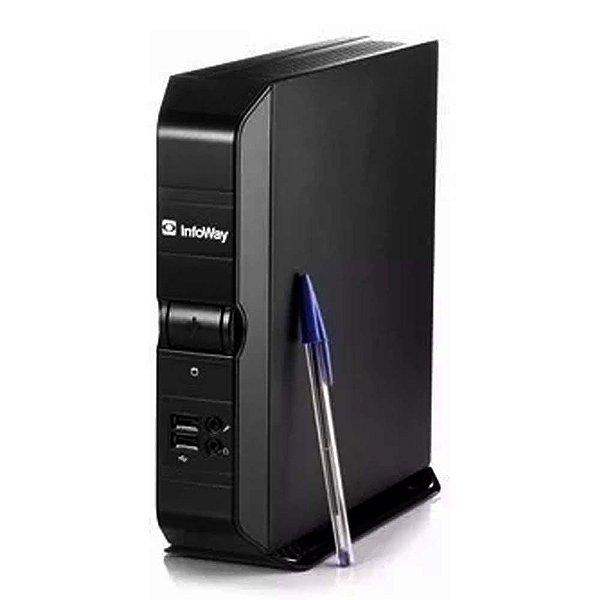 Mini Computador Itautec Infoway Atom N270 1.6ghz 2gb Ram Hd 320gb Semi Novo