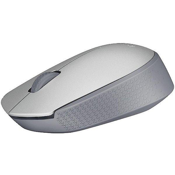 Mouse Sem Fio 2.4Ghz M170 Prata - Logitech