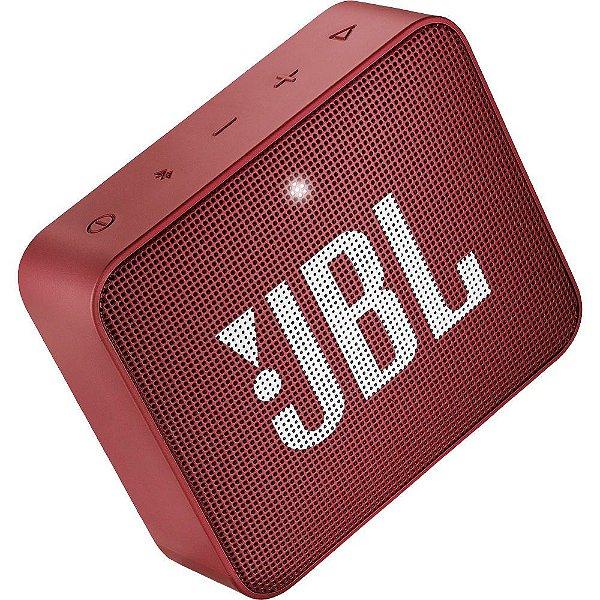 Caixa de Som JBL GO 2 Bluetooth à Prova D'água Ruby Red
