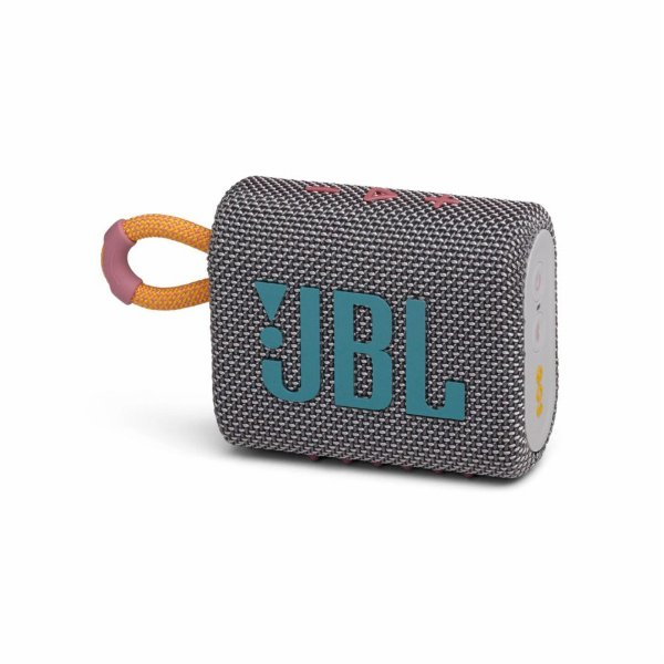 Caixa de Som JBL GO 3 Bluetooth à Prova D'água Cinza