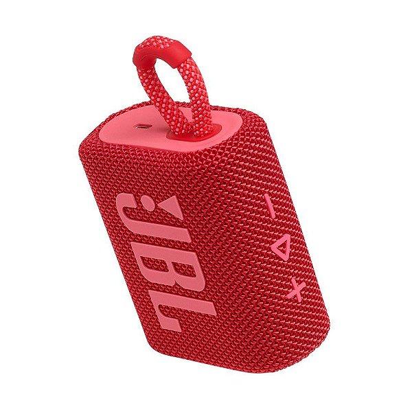 Caixa de Som JBL GO 3 Bluetooth à Prova D'água Vermelho