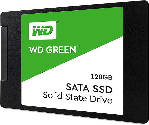SSD WD Green, 120GB, SATA, Leitura 545MB/s, Gravação 430MB/s WDS120G2G0A - Western Digital