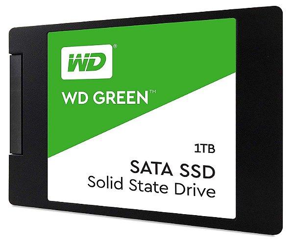 SSD WD Green 1TB, SATA, Leitura 545MB/s, Gravação 430MB/s WDS100T2G0A - Western Digital