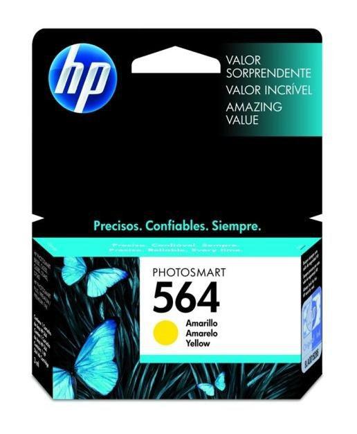 Cartucho de Tinta HP 564 ( CB320 ) Amarelo 3 ml