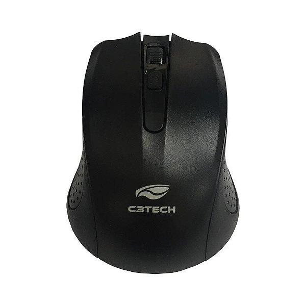Mouse Com Sensor Óptico S/Fio Usb Com Raio de Transmissão de até 12 Metros M-W20BK - C3 Tech