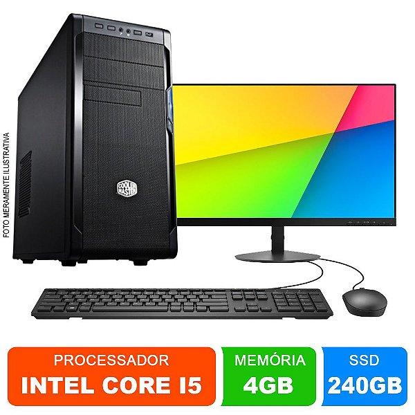 Microcomputador Completo Intel Core i5 3.0Ghz 4gb Ram HD 240GB SSD Monitor 18,5 Polegadas Teclado e Mouse