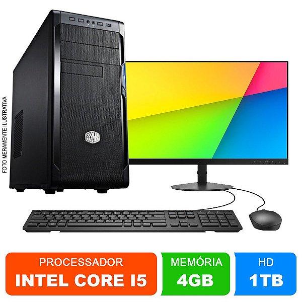 Microcomputador Completo Intel Core i5 4gb Ram HD 1TB Monitor 18,5 Polegadas Teclado e Mouse