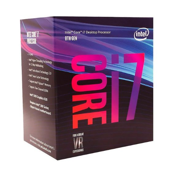 Processador Intel Core i7-10700, Cache 16MB, 2.9GHz (4.8GHz Max Turbo), LGA 1200 - BX8070110700