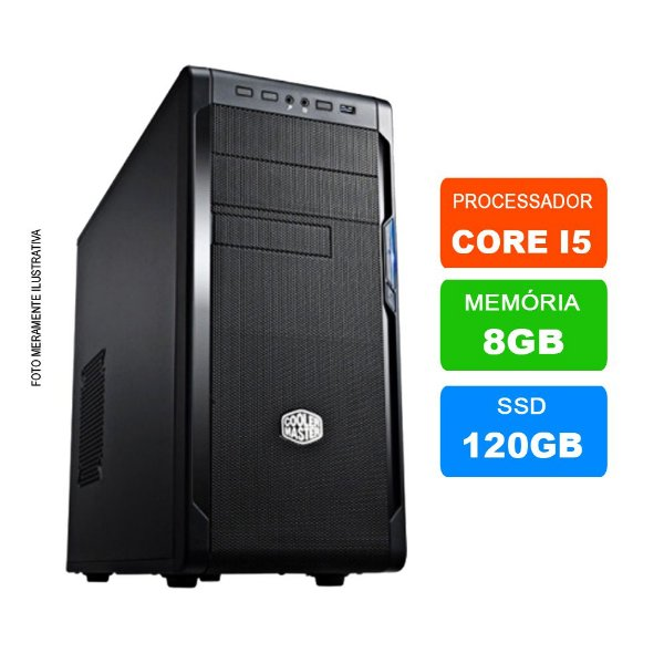 Microcomputador Intel Core i5 3.0Ghz 8gb Ram HD 120GB SSD
