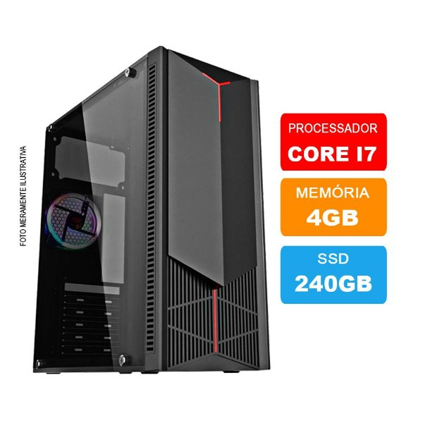 Microcomputador Intel Core i7 3.9Ghz 4gb Ram HD 240GB SSD