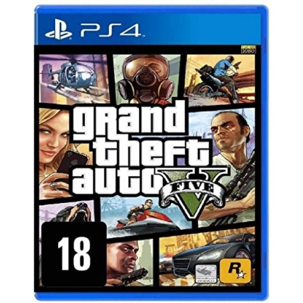 Jogo GTA V Grand Theft Auto V - Premium Online Edition  - PS4