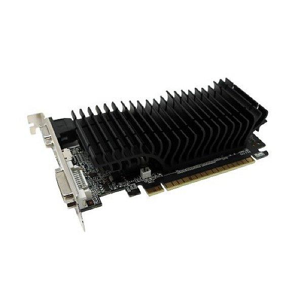 Placa De Vídeo Bluecase 1gb Ddr3 64bits Gt 210 clock da memória: 1000MHz; clock do núclueo: 589MHz; interface: PCI-E; conectores: DVI, HDMI e VGA