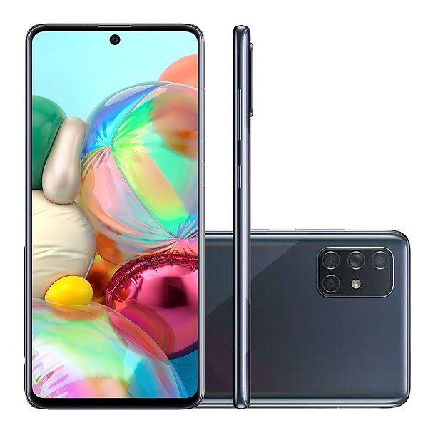 Smartphone Galaxy A71, 128GB, 64MP, Tela 6.7´, 6GB RAM Preto (SM-A715) Prism Crush Black - Samsung