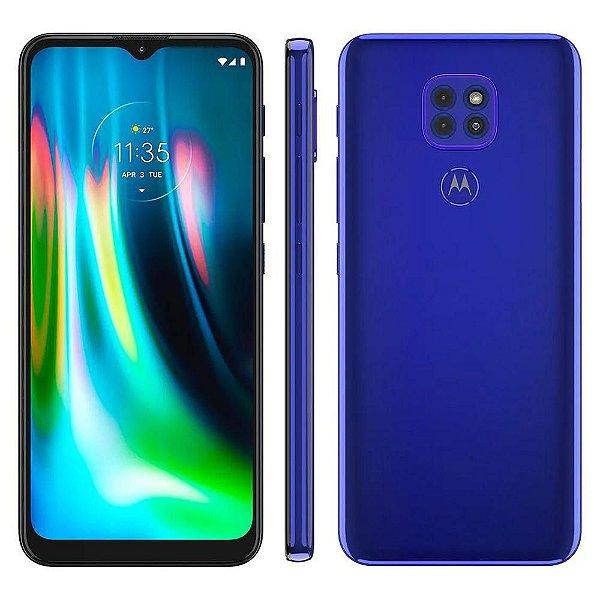 Smartphone Moto G9 Play Azul Safira, Com Tela De 6,5, 4G, 64GB e Câmera De 48MP + 2MP + 2MP XT208 - Motorola