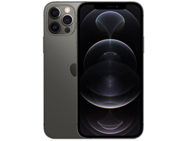 "iPhone 12 Apple 256GB Grafite 5G Tela 6,1"" Retina Câmera Dupla 12MP + Selfie 12MP iOS 14"