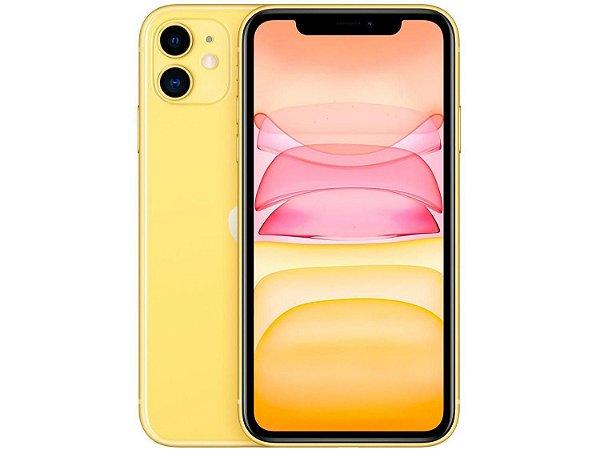 """IPhone 11, 64GB Amarelo com Tela de 6,1""""  E Câmera De 12MP / IOS - Apple"""
