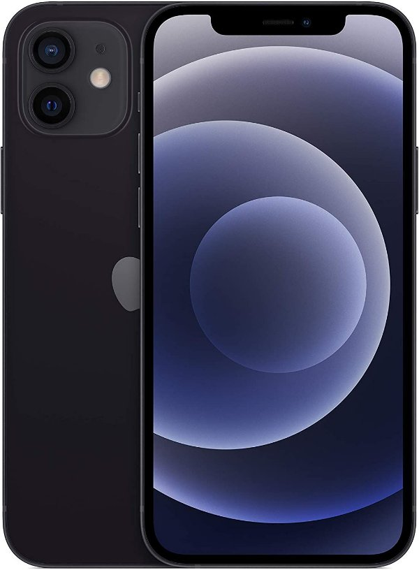"iPhone 12, 64GB Preto 6,1"" Câm. Dupla 12MP iOS - Apple"