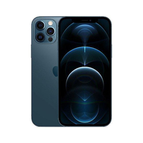 """iPhone 12 Pro Max, Azul Pacífico com Tela de 6,7"""", 5G, 256 GB e Câmera Tripla de 12MP - Apple"""