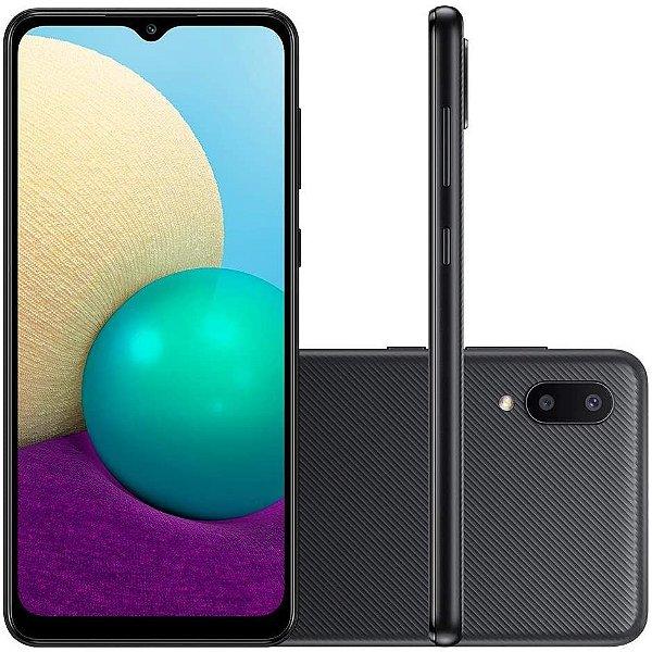 """Smartphone Galaxy A02 Câmera Dupla Traseira 13MP Tela Infinita 6,5"""" 32GB Preto - Samsung"""