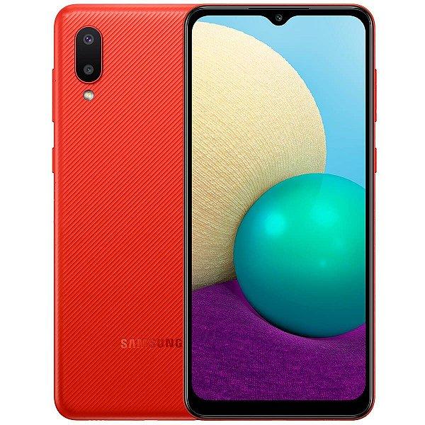 """Smartphone Galaxy A02 Câmera Dupla Traseira 13MP Tela Infinita 6,5"""" 32GB Vermelho - Samsung"""