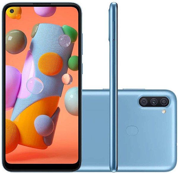 Smartphone Galaxy A11, 64gb, 3gb RAM OCTA CORE, Tela 6.4´, Azul, 13MP Selfie- Samsung