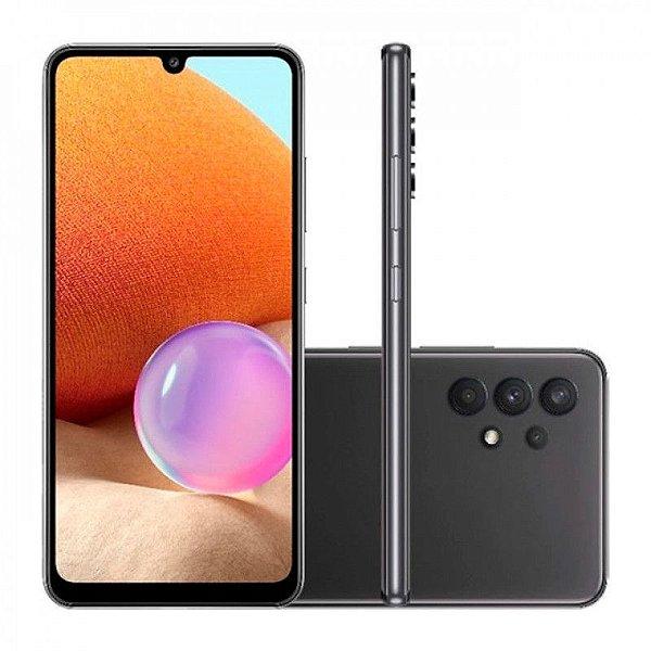 """Smartphone Galaxy A32, 128GB, 4GB, Ram, Tela 6,4"""", Câm. Quádrupla + Selfie 20MP, Preto – Samsung"""