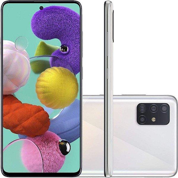 "Smartphone Galaxy A51, 128GB, 4GB RAM, Câmera de 48MP, Tela 6.5"", Branco - Samsung"