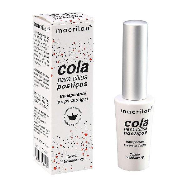Cola para cílios postiços transparente - Macrilan
