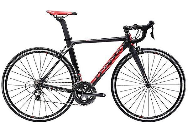 Bicicleta Tropix Madrid Shimano Tiagra 10V Preto/Vermelho tamanho 52