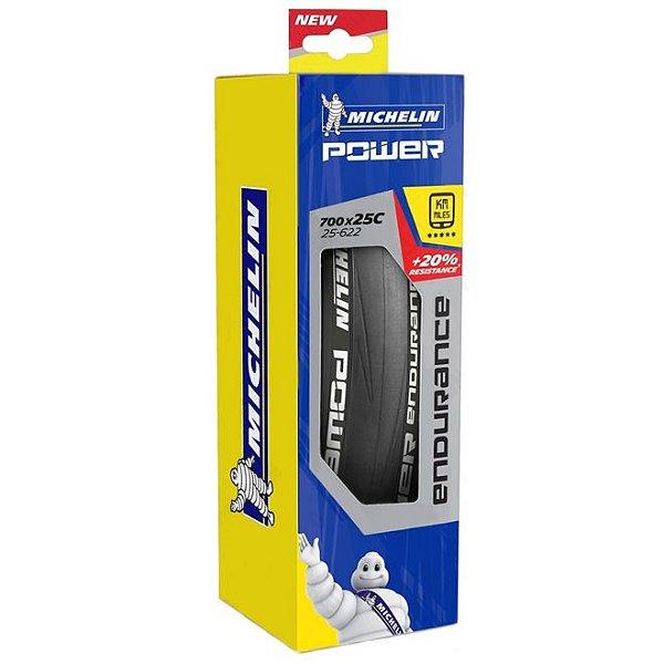 Pneu Michelin Power Endurance 700x25c Dobrável Kevlar Speed