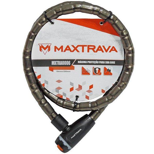 Cadeado Maxtrava Articulado Com Chave 18mmx1200mm