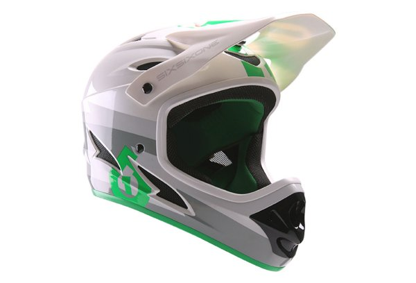 Capacete Sixsixone Comp 661 Bolt Gray / Green Tam. Large 59/60