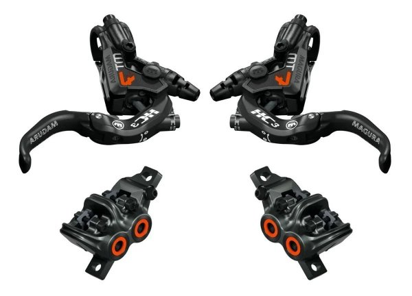 Freios Magura MT7 Orange HC3 Limited Edition - Par