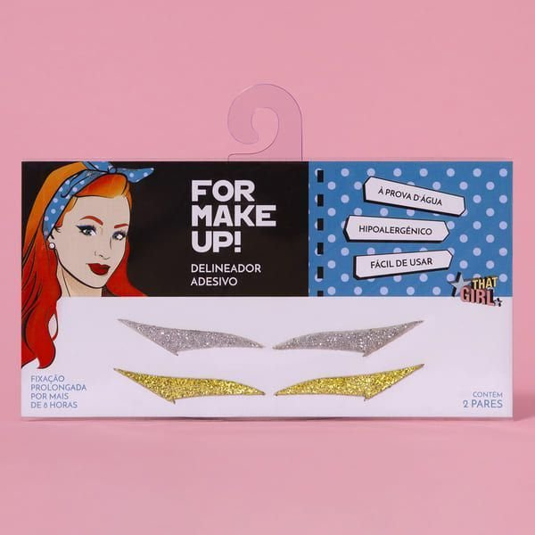 Delineador Adesivo For Make Up - 2 Pares